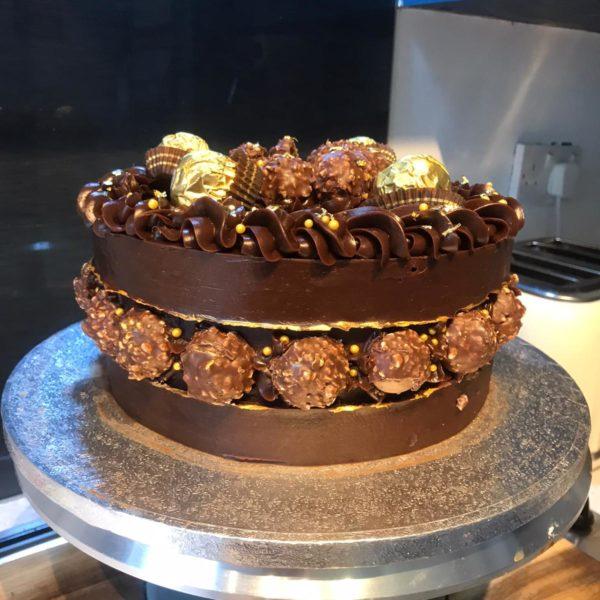 Deluxe Ferrero Rocher Cake